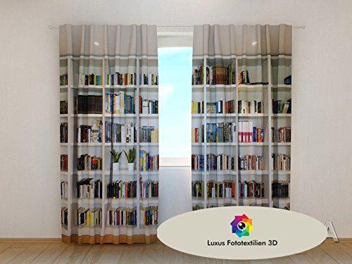 "Fotogardine 3D ""Bücherregal"" Foto-Vorhang Gardine Vorhäng... https://www.amazon.de/dp/B01I77DQYE/ref=cm_sw_r_pi_dp_SO4GxbP2NQT6T"