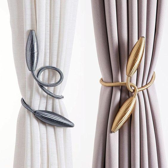 Plush Alloy Curtain Tiebacks In 2020 Curtain Tie Backs Curtain