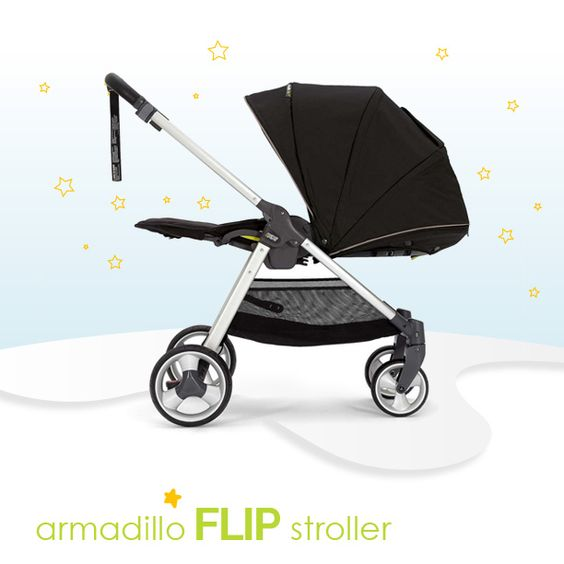 Armadillo Flip's got all the big features you love, like loads of stretching room and comfy padding. Like on Instagram @LiapelaModernBaby