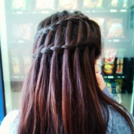 cascading double waterfall braid