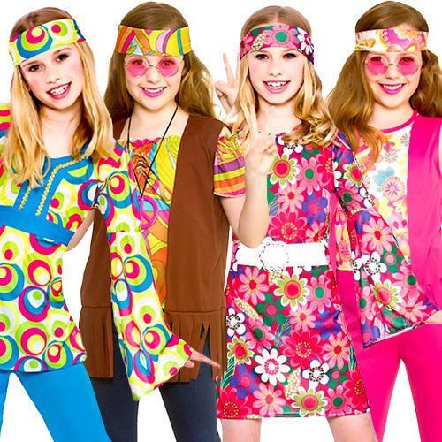 Funky Hippie Shirt Retro Groovy 60/'s 1960/'s Adults Mens Fancy Dress Costume