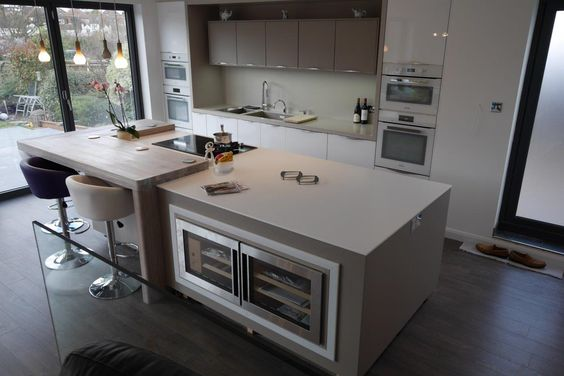 Mix Of Corian And Spekva Wood Designed By Moore By Design