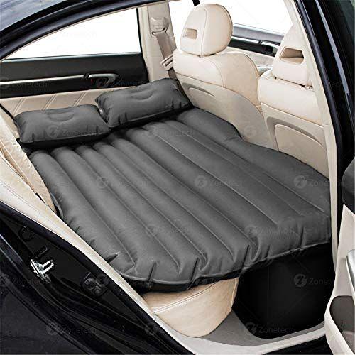 Car Air Sleep Bed Inflatable Mattress Travel Back Seat Cushion W// Pump 2 Pillow