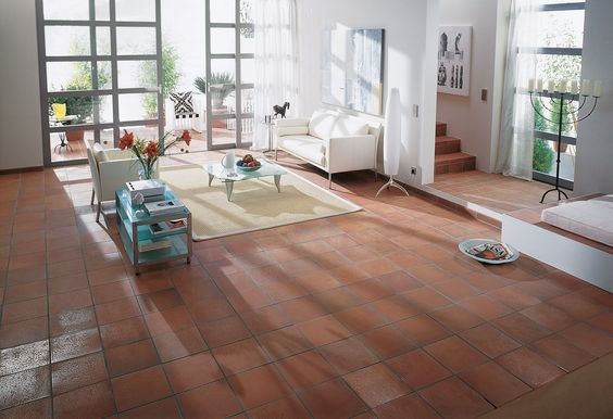 Ferrolite quarry tiles traditional pressed clay floor for Traditional kitchen wall tiles