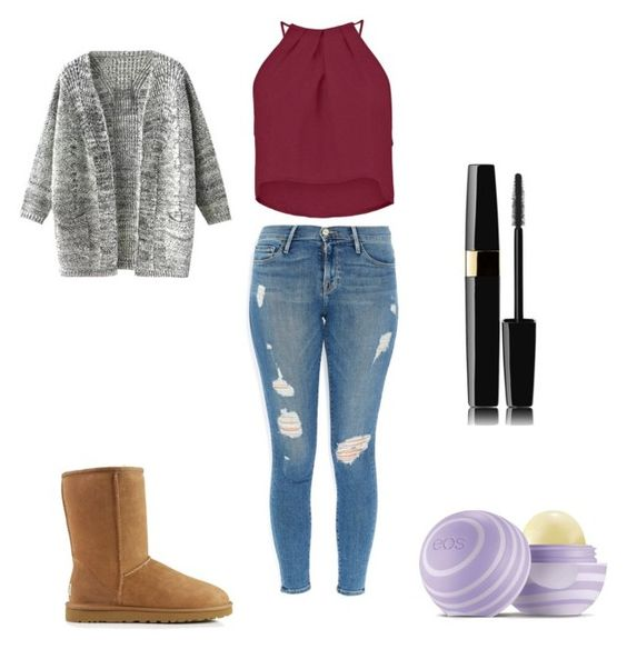 """casual"" by cmdinthepeg on Polyvore featuring Boohoo, Frame Denim, UGG Australia and Eos"