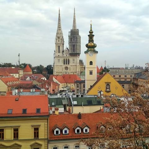 Exploring Zagreb Part 1 Evs Eufluencer Erasmusplus Zagreb Zadar Nin Cathredal Nature Photo Amazingview Colorful T City View Nature Photos Lake View