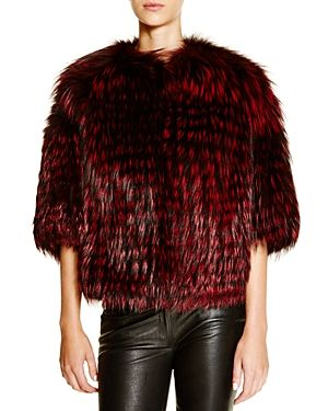 Michael Kors for Maximilian Feathered Fox Coat - 100% Bloomingdale's Exclusive