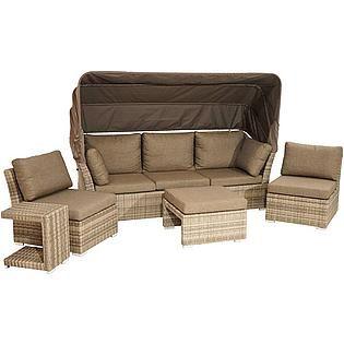 Merxx Loungeset Salerno 16 Tlg 1 Eckbank Tisch 120x70 Cm Polyrattan Online Kaufen Baur Polyrattan 3er Sofa Lounge