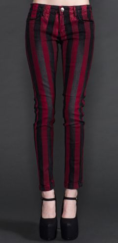 Lip Service Black and Red Skinny Jeans • | Put Some Pants On