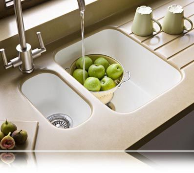 White Corian Kitchen Sink Uk Double Bowl