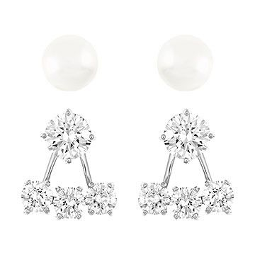 Attract Pearl Pierced Earrings Jacket Set