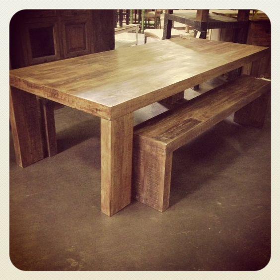 ka100 mango wood dining table nadeau furniture store home sweet dream home. Black Bedroom Furniture Sets. Home Design Ideas