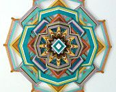Holy Mandala!! Heart of Gold, 18 inch, 12-sided yarn mandala, by custom order