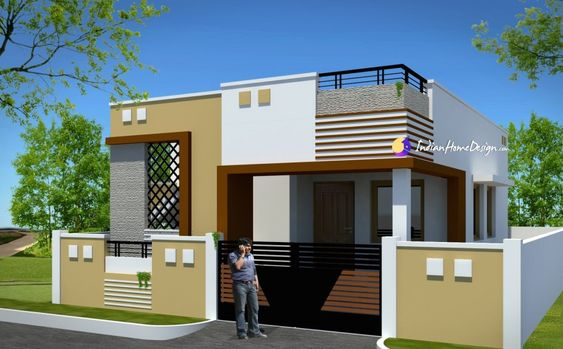 Contemporary Low Cost 800 Sqft 2 Bhk Tamil Nadu Low Cost Home Design By Ns Architect Best Modern House Design Simple House Design Small House Cost