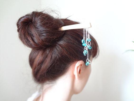 The mermaid- Maple wood kanzashi gesiha hair stick. (via #spinpicks)