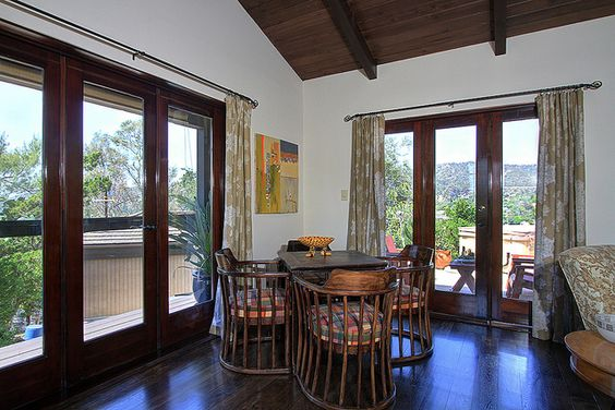 INT wood french doors - 1403 Linda Rosa Avenue, Eagle Rock  by tracyking23, via Flickr