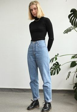Vintage 90s High Waist Mom Jeans Fashion High Waisted Mom Jeans High Waisted Jeans Vintage