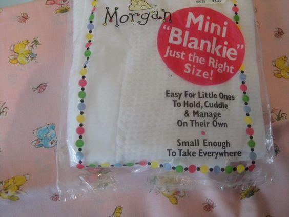 Baby Morgan White Mini Blanket New In Package #BabyMorgan