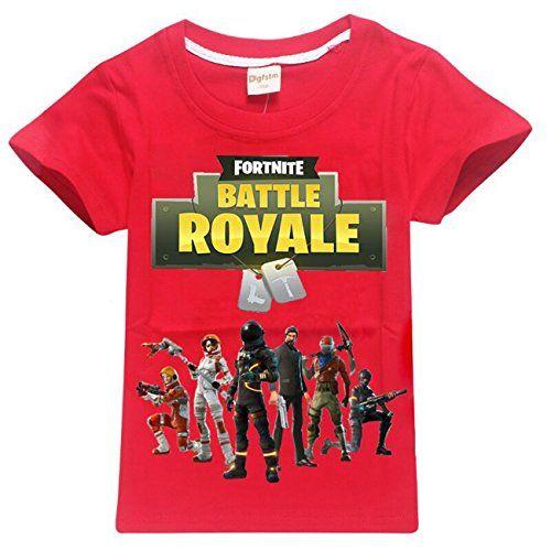 BOYS FORTNITE DRIFT T-SHIRT RED YOUTH KIDS EPIC GAMES TEE
