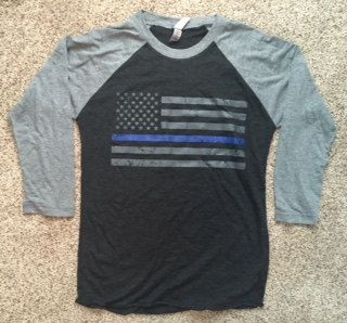 Hey, I found this really awesome Etsy listing at https://www.etsy.com/listing/251724185/thin-blue-line-raglan-grey-sleeve