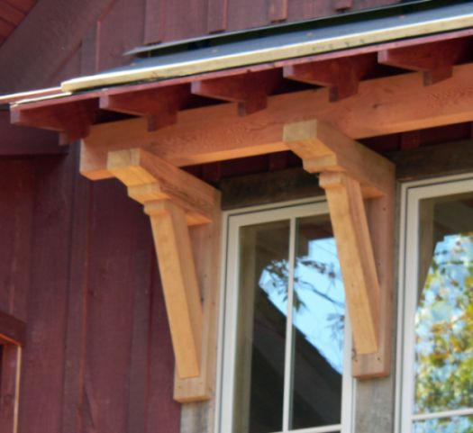 Craftsman Style Exterior Features Knee Braces Support A
