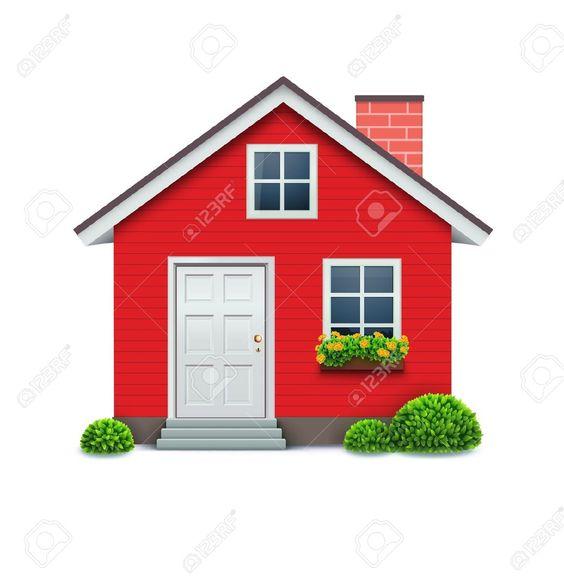 Casa roja sobre fondo blanco Ilustraciones Vectoriales, Clip Art - comsec manager sample resume