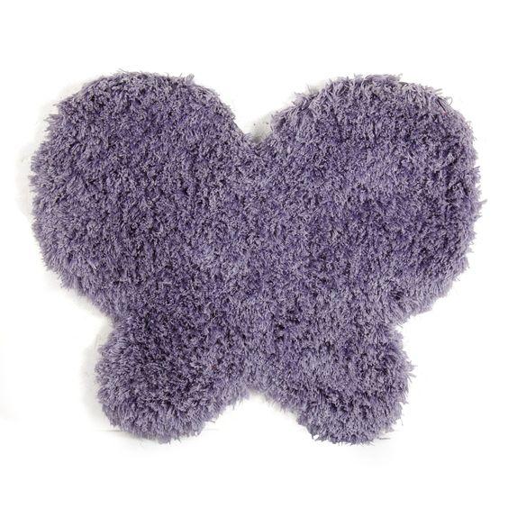 Tapis enfant 80x70cm en forme de papillon mauve lilas for Tapis chambre d enfants