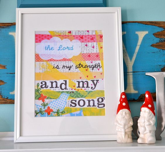 the Lord is my song-8 by 10-digital file.. $12.00, via Etsy.