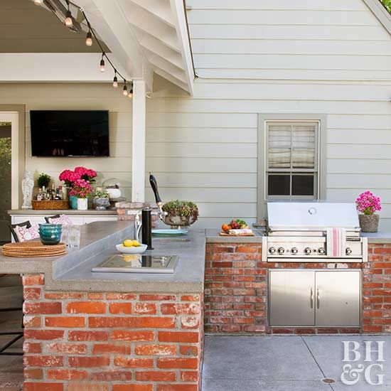 Outdoor Kitchen On A Budget Build Outdoor Kitchen Outdoor Kitchen Decor Outdoor Kitchen Design