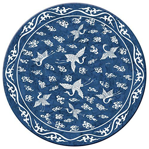 Hadley Table Ming Blue Hard Placemats Round Set Of 4 Placemats Placemats For Round Table Dining Table In Kitchen