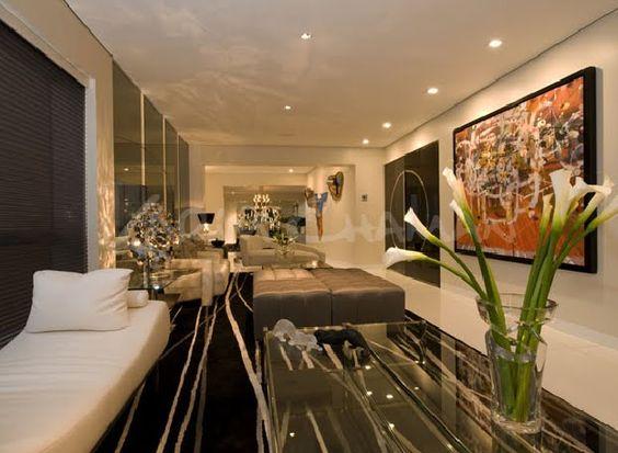 Sala moderna elegante y lujosa con amplio comedor video - Decoraciones de comedores ...