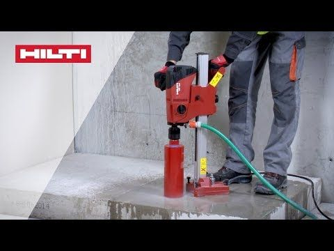 How To Use Hilti Dd 120 Diamond Coring Tool For Wet Drilling Into Concrete Youtube Pouring Concrete Slab Brick Veneer Panels Concrete Slab