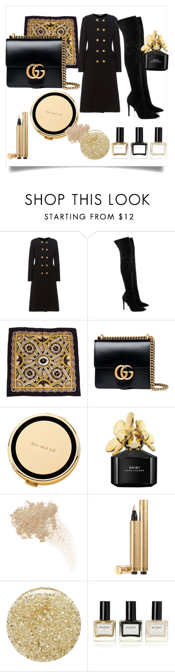 """""""Hello autumn!"""" by styleociety ❤ liked on Polyvore featuring Dolce&Gabbana, Kendall + Kylie, Gucci, Kate Spade, Marc Jacobs, W3LL People, Yves Saint Laurent, Lancôme and Balmain"""