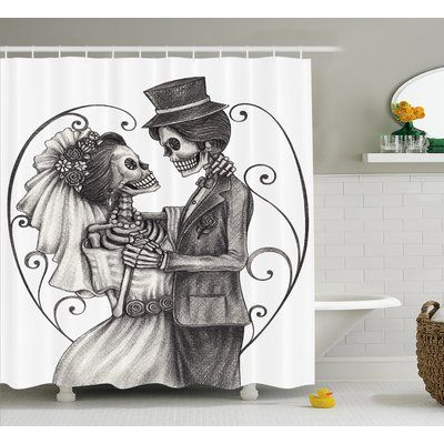 Ebern Designs Lacour Day Of The Dead Love Skull Skeleton Marriage