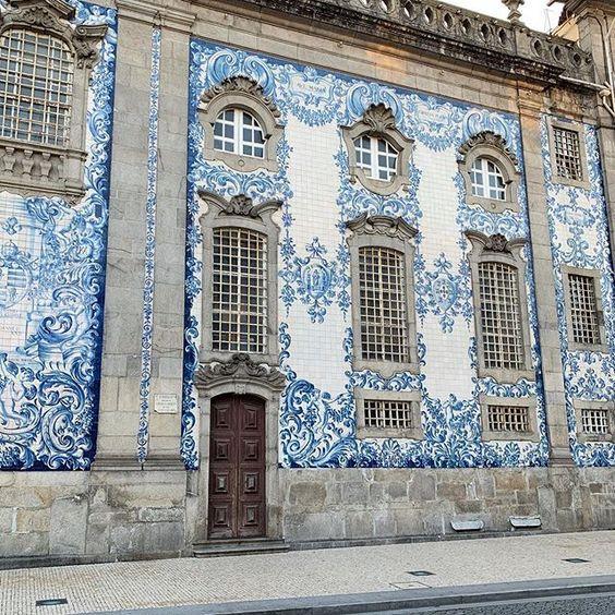 Igreja do Carmo Church in Porto Portugal Blue and White Tiles Baroque