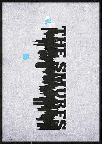 The Smurfs (2011) ~ Minimal Movie poster by Mads Svanegaard #amusementphile