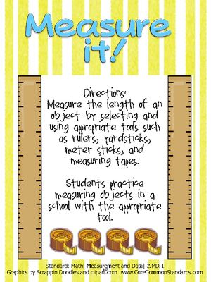 2.MD.1 Second Grade Common Core Worksheets, Activity, and Poster ...