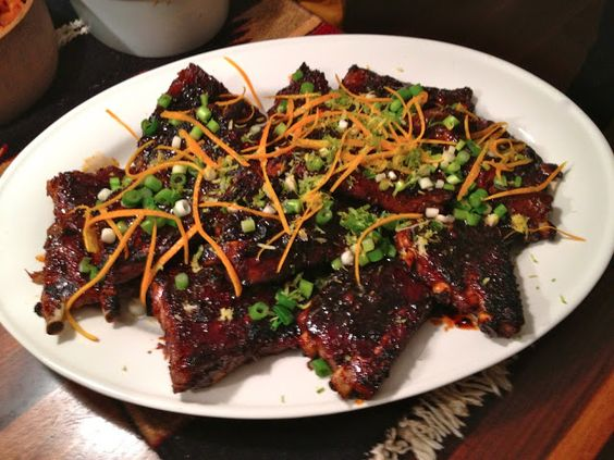 Orange and Soy-Glazed Ribs and Coleslaw with Apple and Yogurt Dressing ...