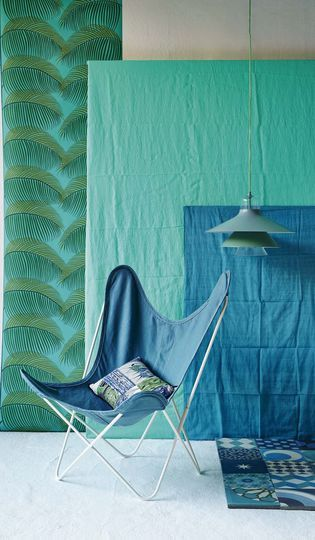 Déco couleur bleu et vert : bord de mer, nature et exotisme - Côté Maison