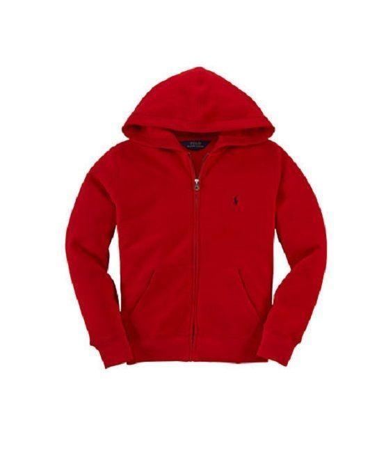 Polo Ralph Lauren Boys' Zip Front Fleece Hoodie Sweatshirt Sizes 18 Month - 3T #PoloRalphLauren #Everyday