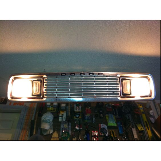 Up-cycling A Dodge Grill Into A Garage Shop Light. #Man
