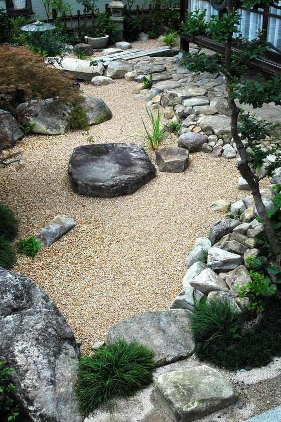 Nice water wise garden idea yard pinterest gardens for Japanese stone garden