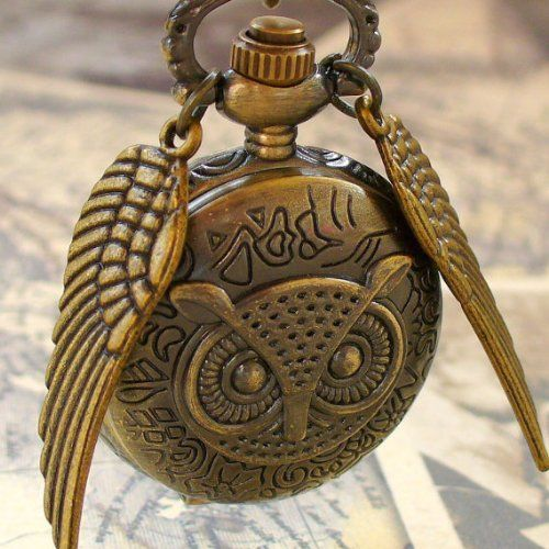 Harry Potter golden snitch OWL Style Flying ball necklace-- Teen Prize