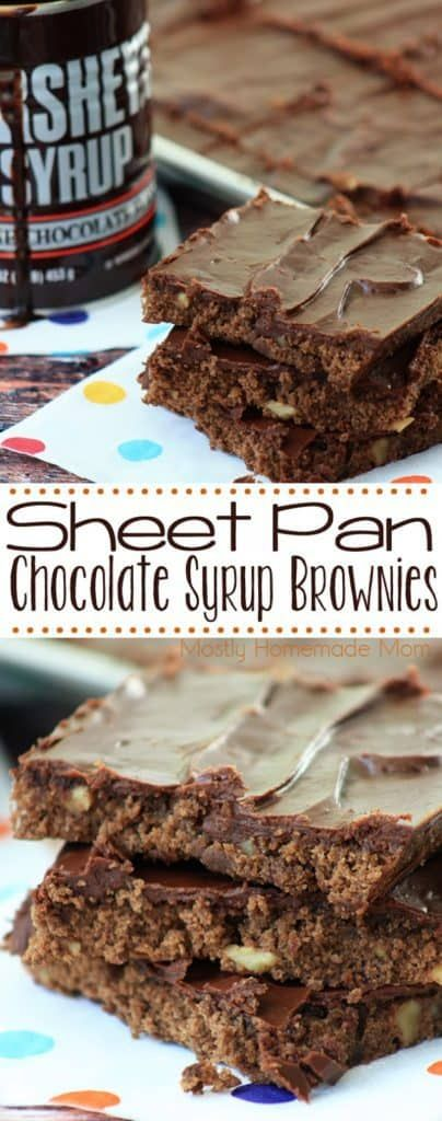 Sheet Pan Chocolate Syrup Brownies