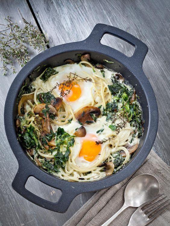 #Huevos con espinacas