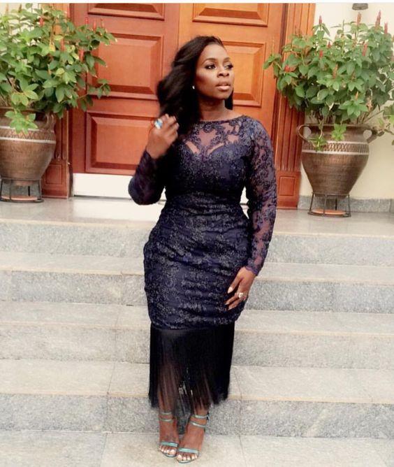 Fringe lace dress, Plussize fashion, Lastest fashion, lace dress, Aso ebi, reception dress, prom dress, Nigeria fashion, African women dress, African wedding, wedding guest: