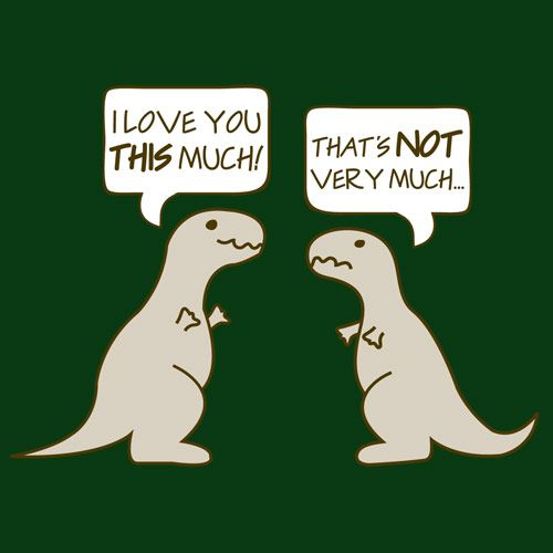 Poor T-Rex.  He has such tiny arms.