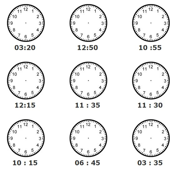 teachers worksheets clocks pics   Directions: Draw the hands of ...
