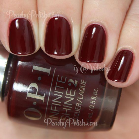 OPI Raisin' The Bar   Infinite Shine Collection   Peachy Polish #oxblood red