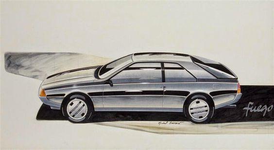 OG | 1980 Renault Fuego | Design sketch by Michel Jardin under Robert Opron